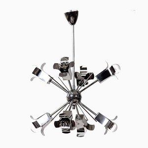 Space Age Sputnik Chrome Ceiling Lamp, 1970s