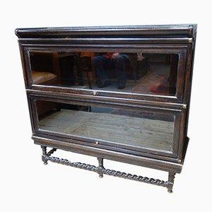 Antikes viktorianisches Bücherregal aus Glas von Globe Wernicke
