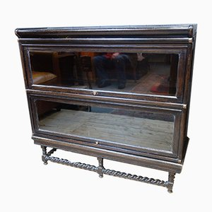 Antique Victorian Barrister's Glass Bookcase by Globe Wernicke
