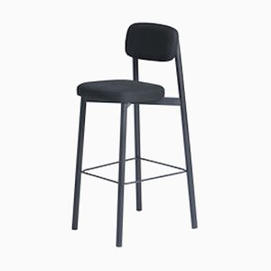 Residence 75 Black Bar Stool by Jean Couvreur