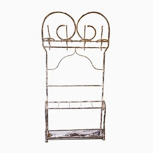 Vintage Metal & Cast Iron Rack