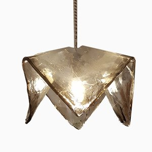 Murano Glass Handkerchief Ceiling Lamp by Carlo Nason for Mazzega, 1960s