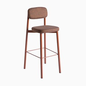 Residence 75 Red Brick Bar Stool by Jean Couvreur