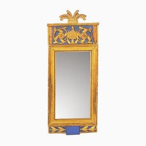 Antiker Gustavianischer Holz Spiegel, 1792