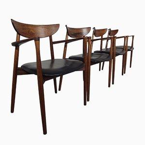 Palisander Armlehnstühle von Harry Østergaard für Randers Møbelfabrik, 1960er, 4er Set