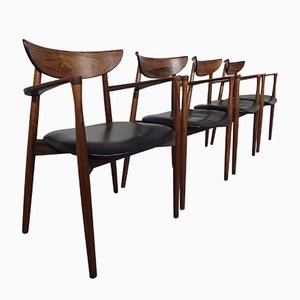 Rosewood Armchairs by Harry Østergaard for Randers Møbelfabrik, 1960s, Set of 4