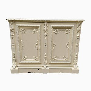 Cream Colored Carved Oak Buffet