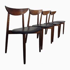 Palisander Esszimmerstühle von Harry Østergaard für Randers Møbelfabrik, 1960er, 4er Set