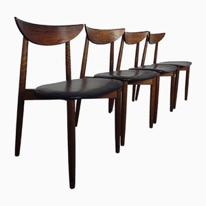 Rosewood Dining Chairs by Harry Østergaard for Randers Møbelfabrik, 1960s, Set of 4