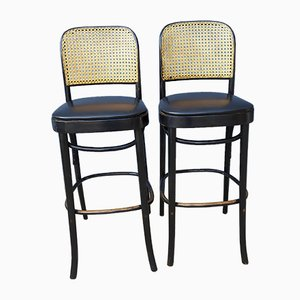 Leatherette Bar Stools, 1970s, Set of 2