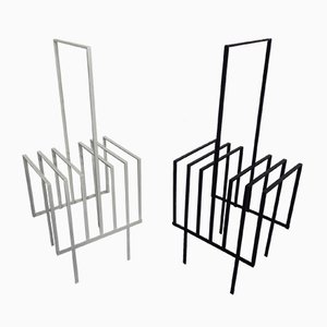 Steel Magazine or Record Racks, 1960s, Set of 2