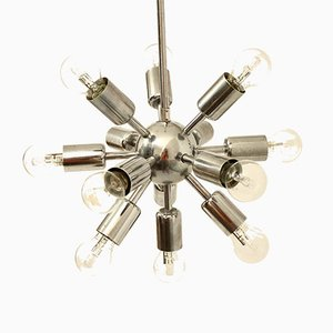 Chrome Sputnik Pendant Lamp from Drupol, 1960s