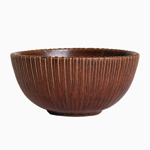 Large Stoneware Bowl with Oxblood Glaze by Arne Bang for Bang, 1930s