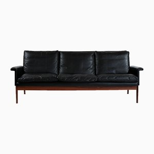 Rosewood & Leather 3-Seat Jupiter Sofa by Finn Juhl for France & Søn / France & Daverkosen, 1960s