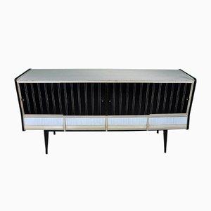 Spanisches Sideboard in Schwarz & Weiß, 1960er