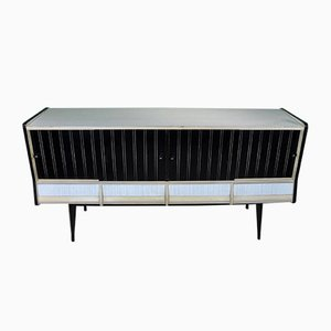 Spanish Black & White Sideboard, 1960s