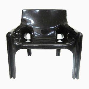 Brauner Plastik Sessel von Vico Magistretti für Artemide, 1970er