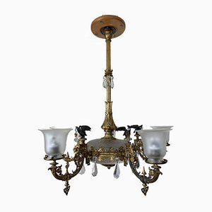Antique 5-Light Ceiling Lamp, 1890s