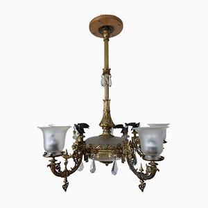 Lampada da soffitto antica con 5 luci, fine XIX secolo