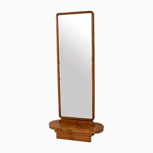 Art Deco Birch Rotatable Dressing Mirror, 1930s