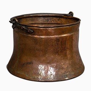 Großer antiker englischer Feuerwehreikupfer aus Kupfer