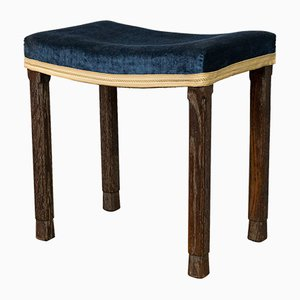 English Coronation Stool from Maple & Co, 1937