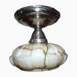 Art Deco Vintage Deckenlampe aus Messing
