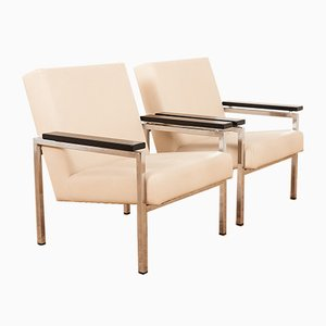 Mid-Century Model 30 Lounge Chairs by Gijs van der Sluis for Van der Sluis Meubelen Culemborg, Set of 2