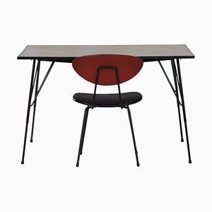 Vintage Table and Chair by Rudolf Wolf for Elsrijk, 1960s