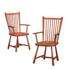 Vintage Holzstühle, 2er Set
