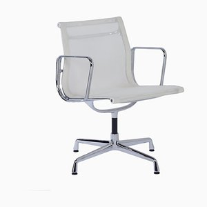 EA 107 Office chair in White Netweave by Charles & Ray Eames for Vitra, 2000s