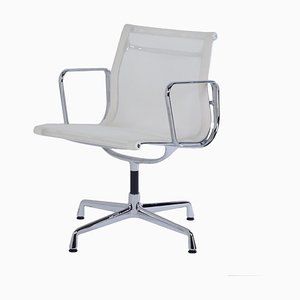 EA 108 Office chair in White Netweave by Charles & Ray Eames for Vitra, 2000s