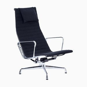 EA 124 Lounge Chair by Charles and Ray Eames for Vitra, 2000s – Black Hopsack