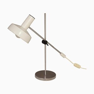 White Desk Lamp by J. Hoogervorst for Anvia, 1960s