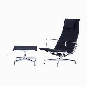 EA 124 Lounge Chair with ottoman by Charles and Ray Eames for Vitra, 2000s