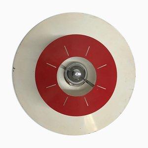 Lampada da soffitto Space Age di Louis Kalff per Philips, 1958 ca Rosso e bianco