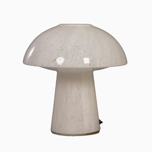 Mushroom Lamp of Opal Glass for Glash