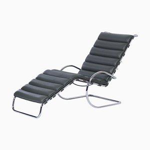 Chaise longue MR di Mies van der Rohe per Knoll, anni '000, pelle verde