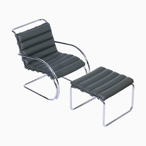 MR Lounge Chair with Ottoman by Mies van der Rohe for Knoll, 2000s