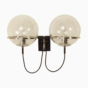 Twin Wall Lamp Duo Basket Teardrop by RAAK, 1970s