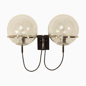 Twin Wall Lamp Duo Basket Teardrop by RAAK, 1970s