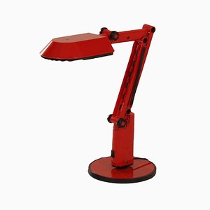 Red Desk Lamp by Ahlstrom & Ehrich Design for Fagerhults, 1970s