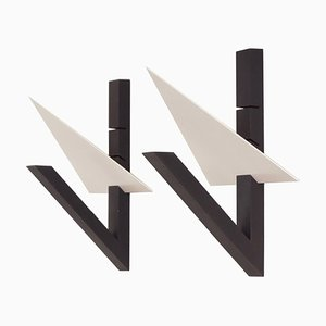 Set of 2 Wall Ligts by Lucien Gau, Paris, 1990s