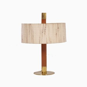 Vintage Table Lamp with Teak Base, 1960s