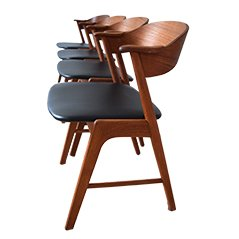 Teak Dining Chairs by Kai Kristiansen for KS Møbler, Set of 4