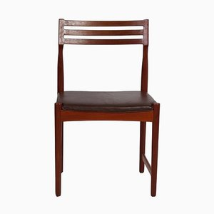 Bovenkamp Dining Chair by Severin Hansen | Dark Brown Leather