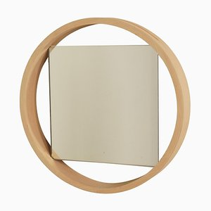 Birch Wall Mirror DZ84 by Benno Premsela for 't Spectrum, 1950s