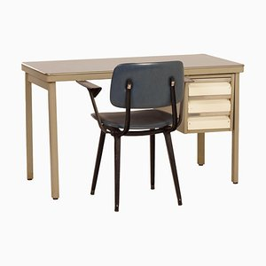 Industrial Desk with Blue Top by Oda, 1950s