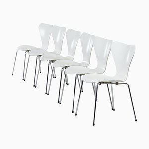 Set White Butterfly Chairs by Arne Jacobsen for Fritz Hansen, 1950s