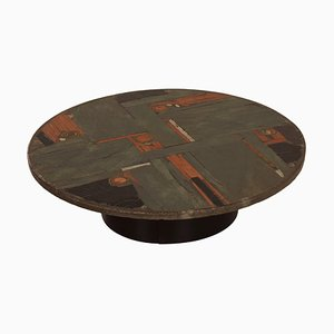 Natural Stone Coffee Table by Paul Kingma, 1970s | Round, Multi Colored